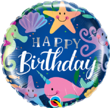 "Birthday Fun Under The Sea Foil Balloon (18"") 1pc"